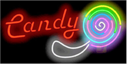 Candy with Graphic Catering Neon Sign