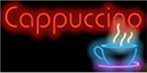 Cappuccino Cafe Food Neon Sign