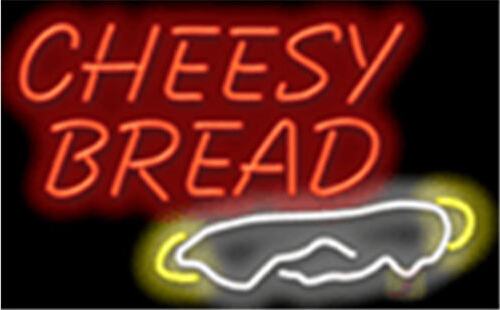 Cheesy Bread Fast Food Neon Sign