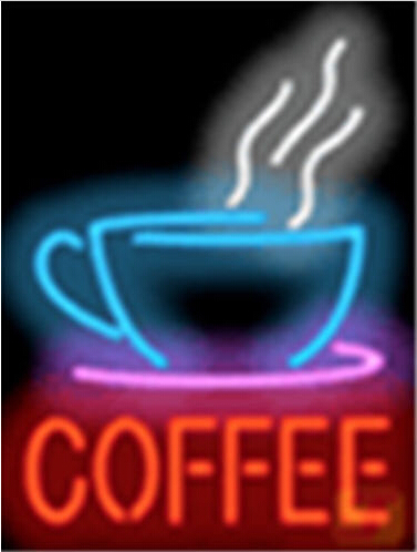 Coffee with Cup Cafe Neon Sign