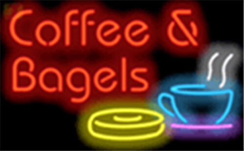 Coffee and Bagels Neon Sign