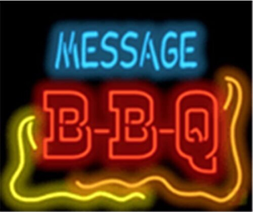Custom Message Bbq Barbeque Neon Sign