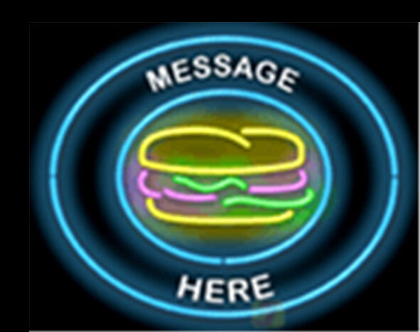Custom Message Burger Catering Neon Sign