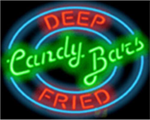 Deep Fried Candy Bars Catering 4 Neon Sign