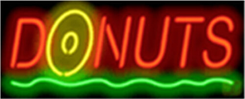Donuts Catering Diet Neon Sign