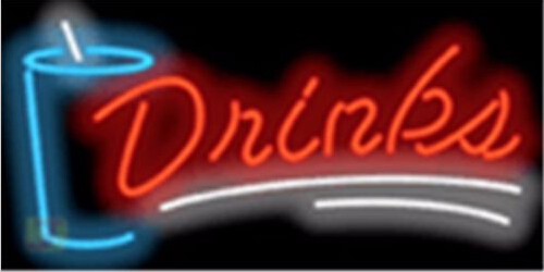 Drinks Catering Barbeque Neon Sign