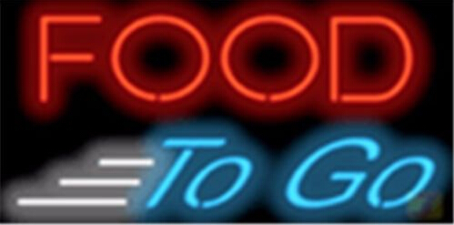 Food To Go Catering Neon Sign