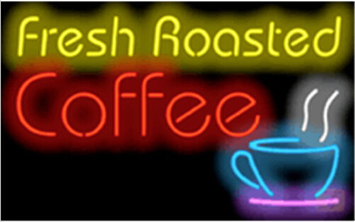 Fresh Roasted Coffee Cafe Neon Sign