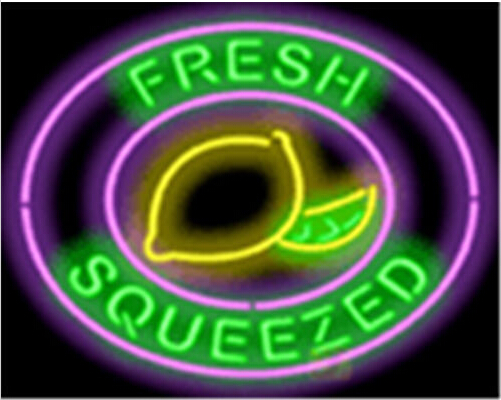 Fresh Squeezed Lemonade Cafe Neon Sign