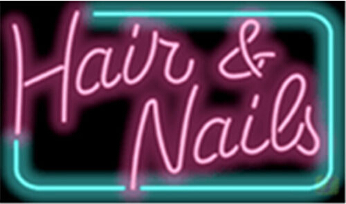 Hair and Nails Salons Neon Sign