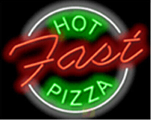 Hot Pizza Fast Food Neon Sign