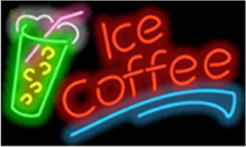 Ice Coffee Deit Catering Cafe Neon Sign