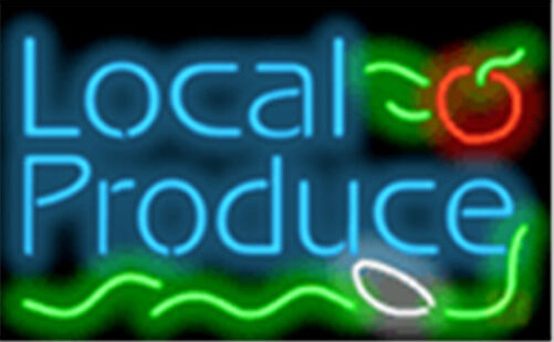 Local Produce Catering Neon Sign
