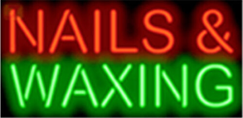 Nails and Waxing Salons Neon Sign