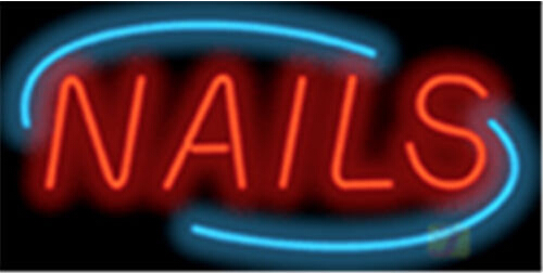 Nails Super Sized Deco Neon Sign