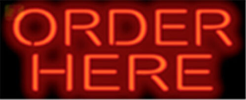 Order Here Catering Neon Sign